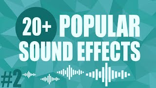 Popular Sound Effects YouTubers Use #2 - Free 20+ Pack
