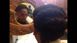 Happy 2B Nappy Show: African Spiral Zig Zag Hair Style
