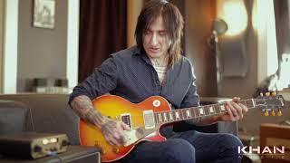 "Richard Fortus of Guns n Roses demoing Khan Audio Pak Amp w/ Gibson ""58 1st Burst"""