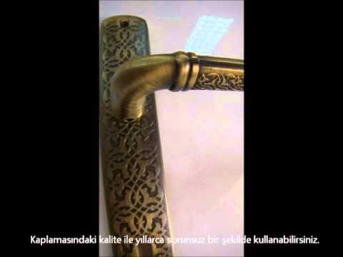 Doğanlar topkapı antik füme aynalı oda kapı kolu (www.hirdavatfirsati.com)