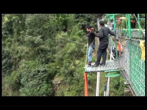 Brave boy Abinash Pokhare Bungee Jump at Bhote Koshi Gorge
