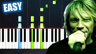 Bon Jovi - It's My Life - EASY Piano Tutorial by PlutaX