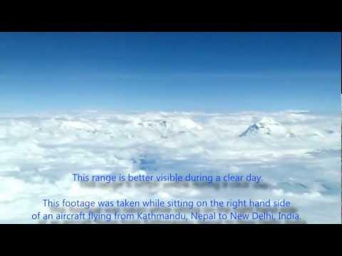 World's 7th Highest Mountain from 35000 feet – Dhaulagiri