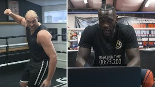 Deontay Wilder reacts to Tyson Fury mocking his punching technique 👀