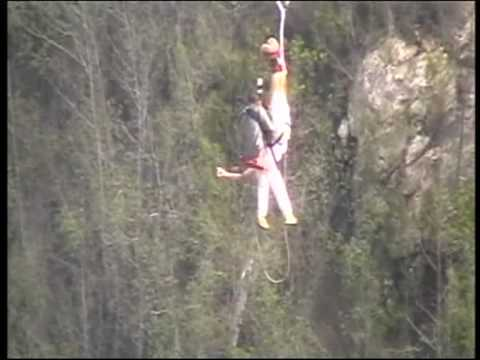 220m bungyjump at Bloukans, South Africa