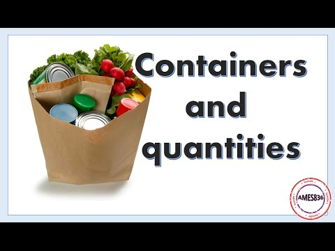 Containers and quantities: English Language - YouTube