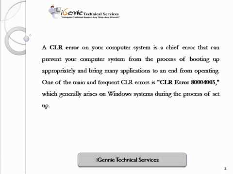 Ways to Get Rid of CLR error 80004005