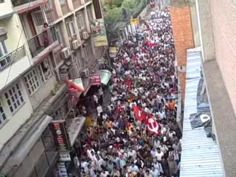 Communist Youth League Demonstration Nepal