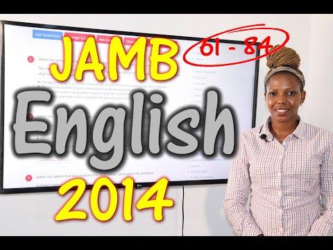 JAMB CBT English 2014 Past Questions 61 - 84