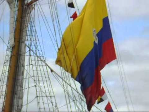 Huge flag of Ecuador