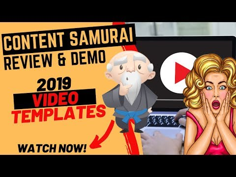 ✅ Content Samurai Review & Demo 2019 - ✅ How to Use Content Samurai to Make YouTube Videos