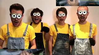Banana Song- Minions Aula39 acapella cover version ( with riffs and drums)
