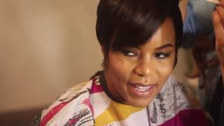 Letoya Luckett shoots for the cover of Kontrol Magazine