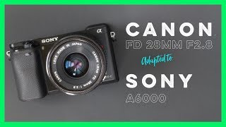 Canon FD 28mm f2.8 Adapted to the Sony A6000