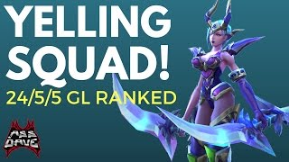 Yelling Squad?! Mobile Legends Karina Glorious Legend INSANE SQUAD Ranked Gameplay with Commentary