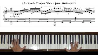 Unravel Tokyo Ghoul OP (arr. Animenz) Piano Tutorial Part 2