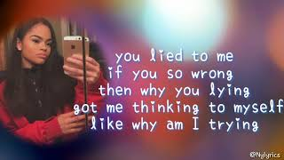 Kierra Luv - You lied to me Lyrics