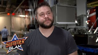 Kevin Owens takes a walk when asked about his fear of Braun Strowman: Exclusive, Aug. 19, 2018 width=