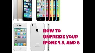 How to unfreeze your IPhone 4,5,and 6 and iPods