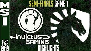 IG vs TL Highlights Game 1 | MSI 2019 Semi-finals Day 6 | Invictus Gaming vs Team Liquid G1