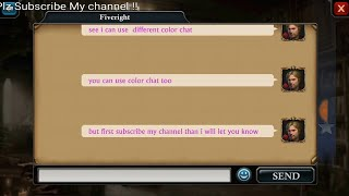 How to  change chat color ! | king of Avalon