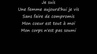 Sofia Essaidi- Femme d'aujourd'hui+paroles-lyrics