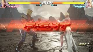 TEKKEN 7 (PS4) - Paul Vs. Nina | Precipice of Fate New Stage [1080P 60 FPS]