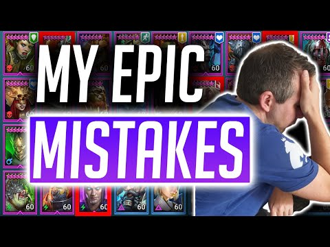 RAID: Shadow Legends | My Epic Mistakes! Dont invest in these champions!