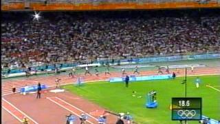 2004 Athens Summer Olympics Mens 4x100 Relay UK win Gold