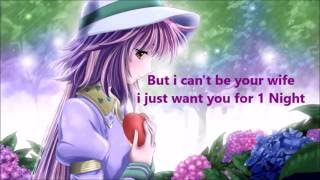 Destiny Briona - 1 Night Lyrics (Nightcore sped up)