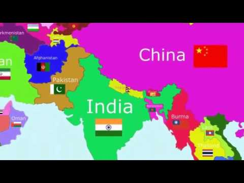 Asia - The Countries of the World Song - YouTube