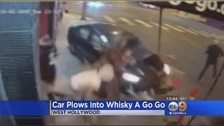 Security Video Captures Moment Car Plows Into Whisky A Go Go Crowd