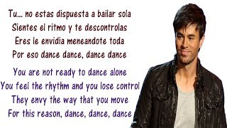 Enrique Iglesias - Noche Y De Dia Lyrics English and Spanish ft. Yandel, Juan Magan - Translation