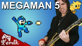 """Megaman 5 - """"Opening & Title Theme""""【Metal Guitar Cover】 by Ferdk"""