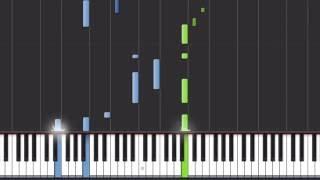 "Naruto Shippuden ""Peaceful"" Synthesia Tutorial (Piano)"