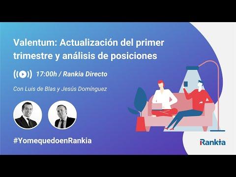 Luis de Blas y Jesús Domínguez gestores del fondo Valentum nos explicarán las novedades del primer trimestre de 2020 y harán un repaso de las principales tesis de inversión. ¿Cómo se espera su comportamiento en lo que queda de 2020?