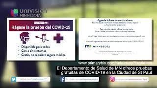 El Departamento de Salud de MN ofrece pruebas gratuitas de COVID-19 en la Ciudad de St Paul