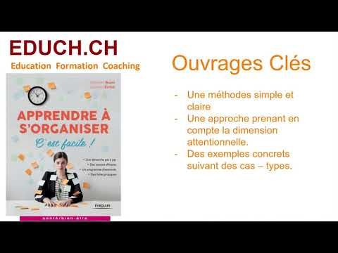 Apprendre à s'organiser de Stéphanie Bujon Art du temps Formation Coaching 2/4
