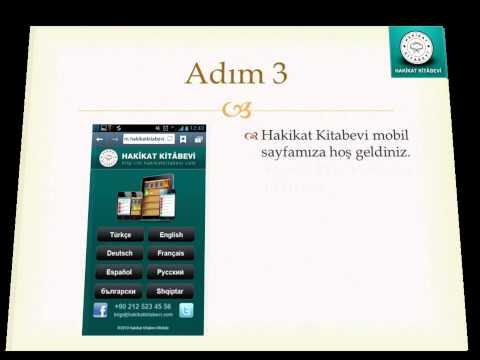 Hakikat Kitabevi mobil sayfasını ana ekranıma nasıl eklerim? Android cihazlar için anlatım