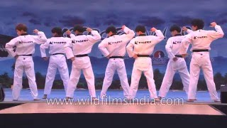 Taekwondo performance by K-Tigers from Korea width=
