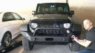 Install Instructions for E-Autogrilles 51-0360 07-15 Jeep Wrangler JK Full Width Front Bumper