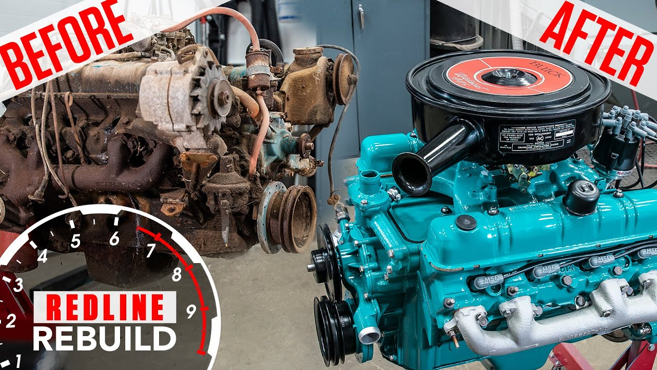 Watch this Buick Nailhead go from rusty mess to a V-8 blessed