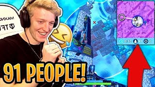 Tfue WINS with 91 Players Left in the FINAL Storm Circles! (WORLD RECORD) - Fortnite Funny Moments