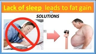 """""""SLEEP DEBT"""" leads to fat storage 