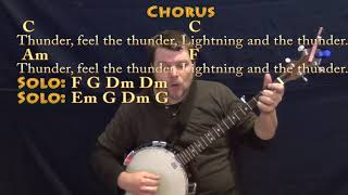 Thunder (Imagine Dragons) Banjo Cover Lesson in C with Chords/Lyrics