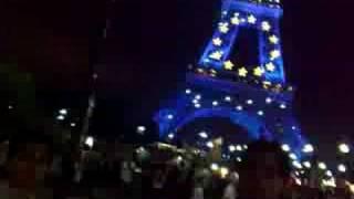 lighting at effile tower(paris)