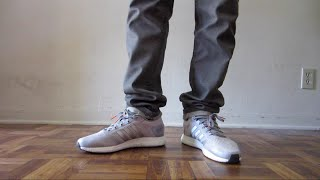 Adidas Climachill Rocket Boost (Grey) on feet