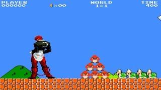 Iori Yagami Intenta Pasar El Primer Nivel De Super Mario Bros