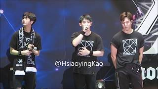170908 MONSTA X FIRST WORLD TOUR BEAUTIFUL IN TAIPEI- WONHO & HYUNGWON FINAL TALK