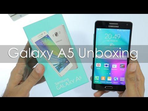فتح صندوق جهاز جلاكسي اي 5 متوسط التكلفه | UNboxing Galaxu A5